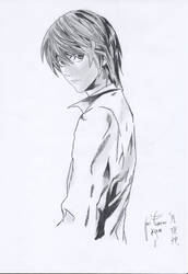 Raito Yagami Pencil drawing by KIRA-THASMO