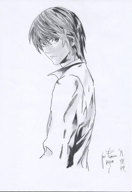 Raito Yagami Pencil drawing by KIRA-THASMO