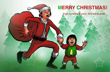 merry christmas by psmonkey