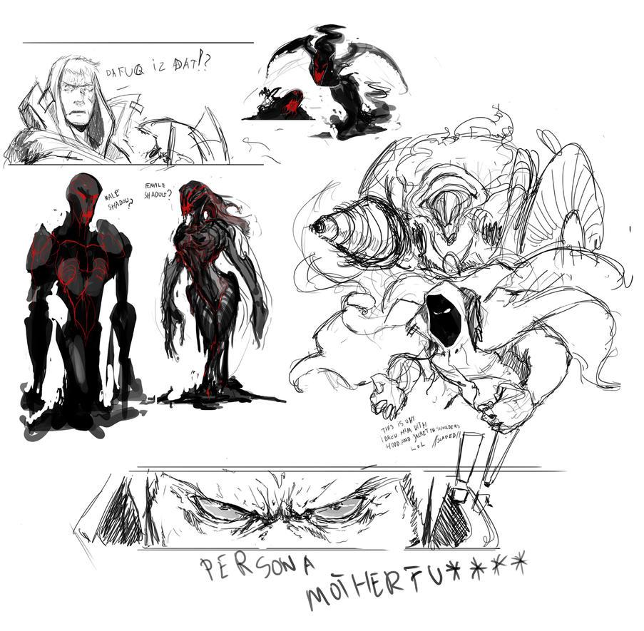 MM awakening sketches by VolatileDinners