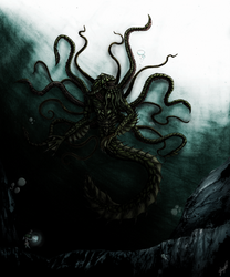 Dagon, Lord of the Depths by arvalestos