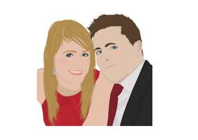 Hayley and Ben by MegaBoneDesigns