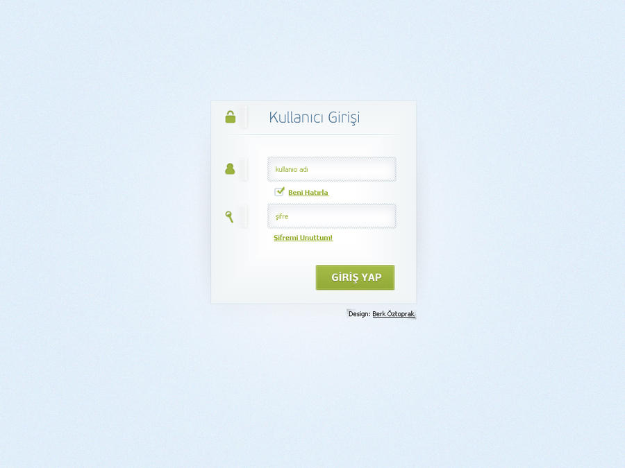 Login PSD by berkoztoprak