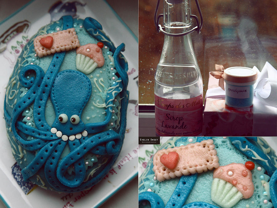 Mr Octopus, the muffin king by Evelin-Novemberdusk