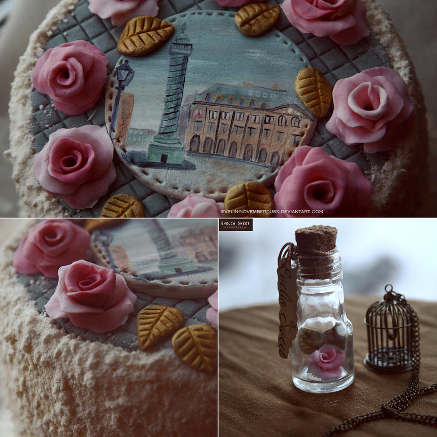 Roses and Paris by Evelin-Novemberdusk