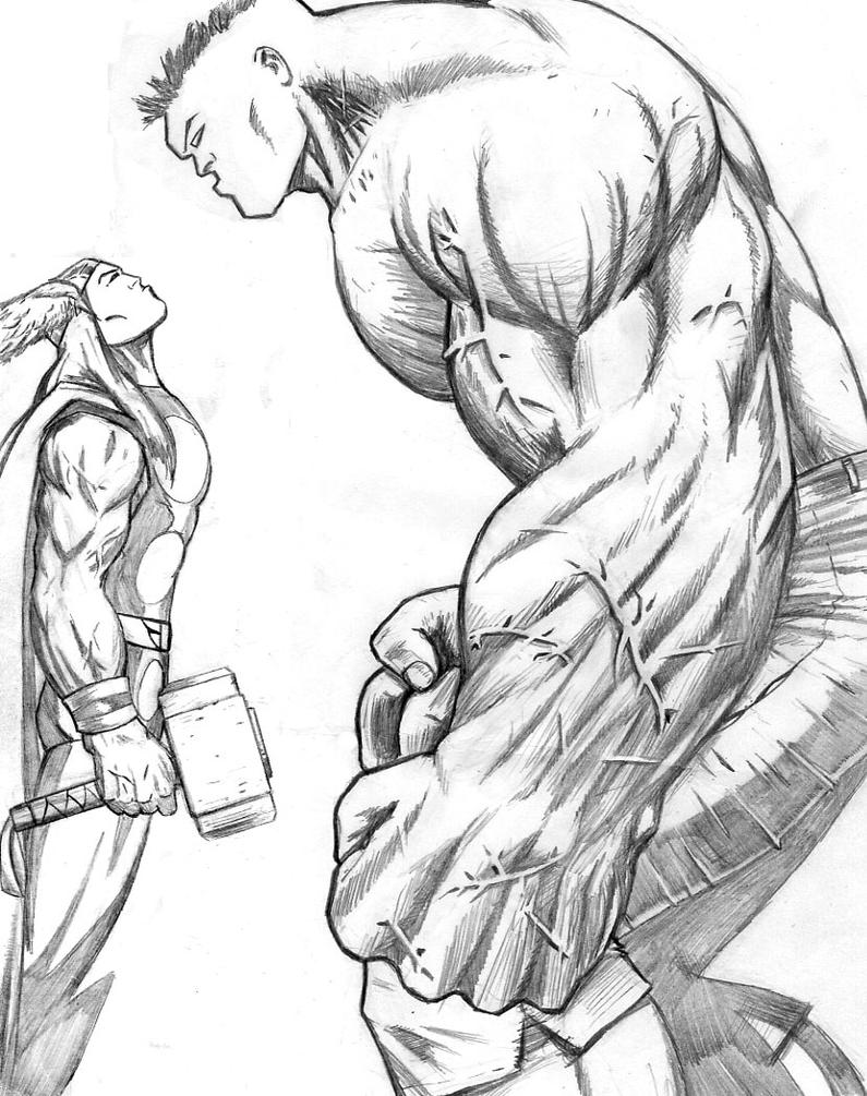 easy thor drawings - photo #39