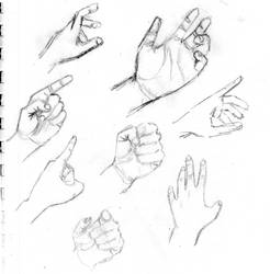 Hand drawings 01 by Davinder