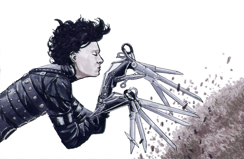 Edward Scissorhands by Davinder