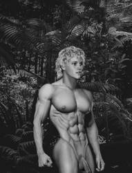 Jungleboy- all muscle without loincloth by bumpman321