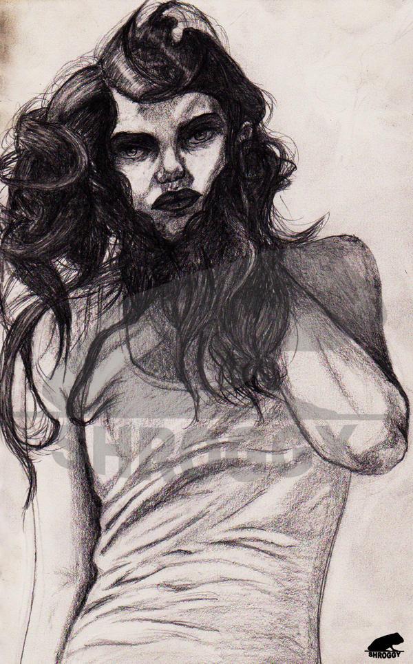 crazy hair sketch by Shroggy