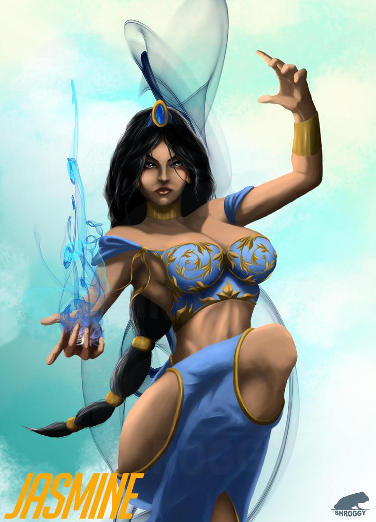 Overwatch: Disney Princess Edition - Jasmine by Shroggy