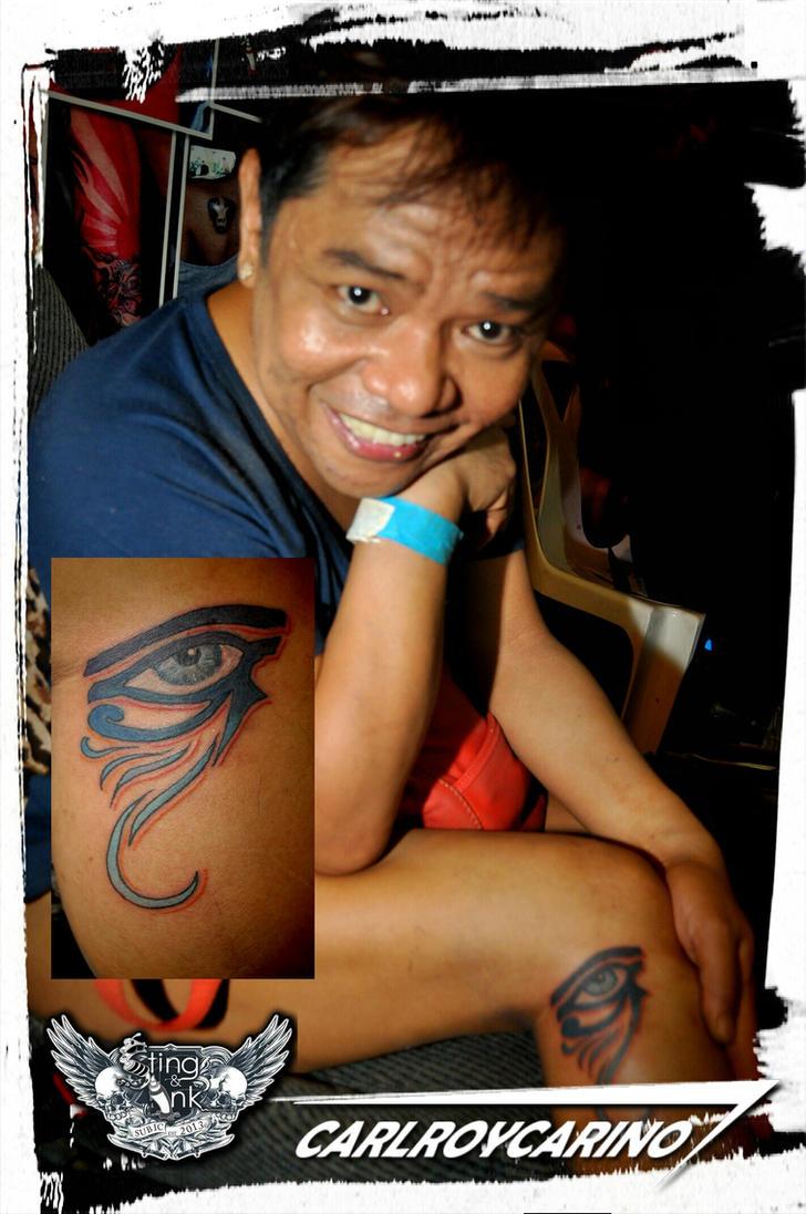 eye of Ra tattoo by carlroycarino