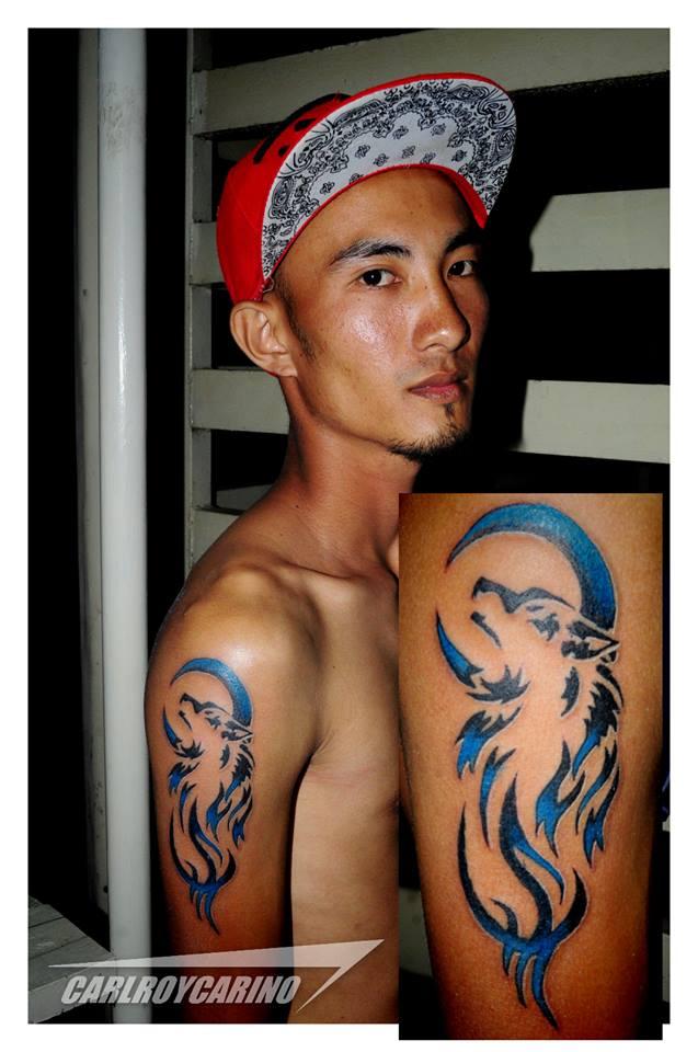 Wolf Tattoo by carlroycarino
