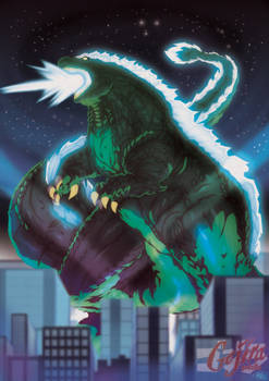 Commission by TovioRogers: Godzilla