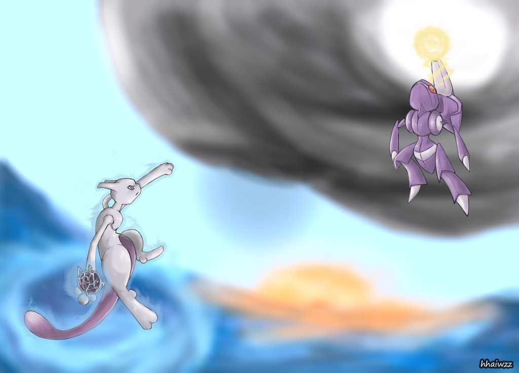 Mewtwo vs Genesect by whonghaiw on DeviantArt