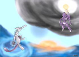 Mewtwo vs Genesect by whonghaiw