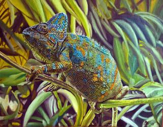 Lizard Oil Painting