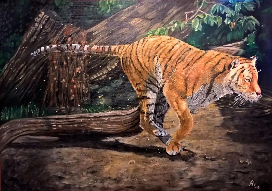 Tiger oil painting by Vrashat on DeviantArt