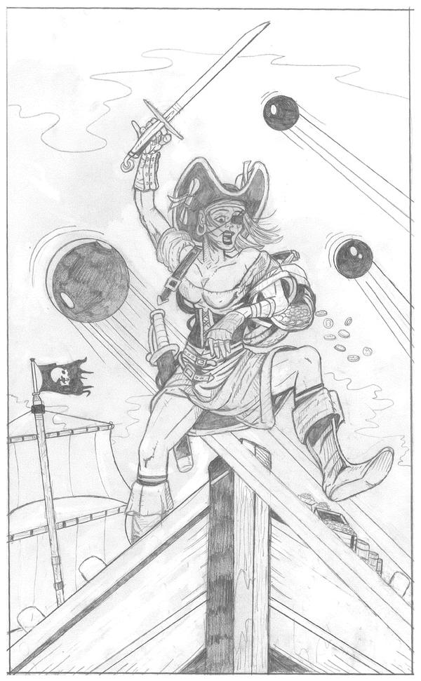 Female Swashbuckler by garystrange