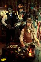 Dirigible Days: Crew of the S.S. Beatrix by garystrange