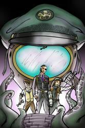 Dirigible Days Comic Book Artwork