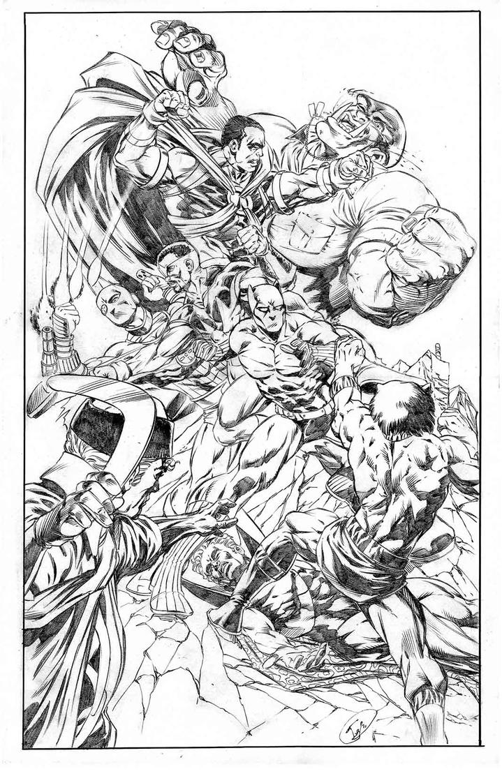 Brotherhood vs suicide squad pencils by ivyzink on deviantart for Suicide squad coloring pages