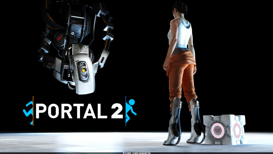 Portal 2: Chell and GLaDOS by Cloudi5 on DeviantArt
