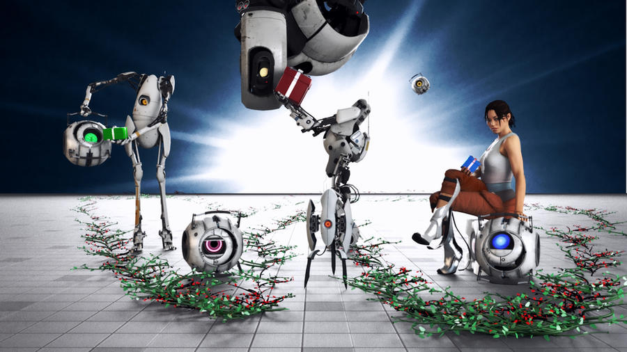 Portal 2 -Christmas- by Cloudi5 on DeviantArt