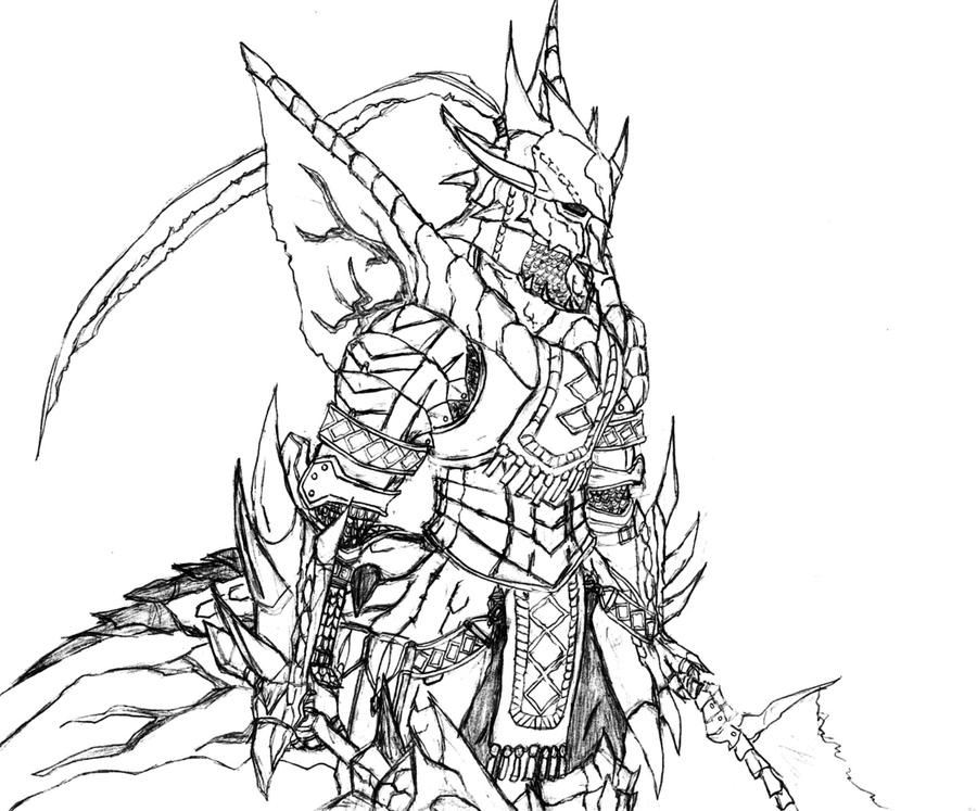 Line Drawing Monster : Monster hunter freedom unite rathalos by jachaunt on