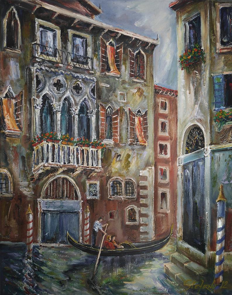 Venice - Romantic Row by raysheaf