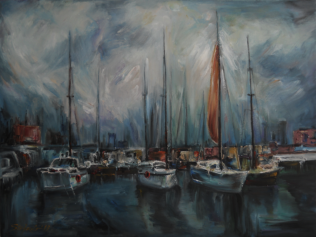 Port at Dusk by raysheaf
