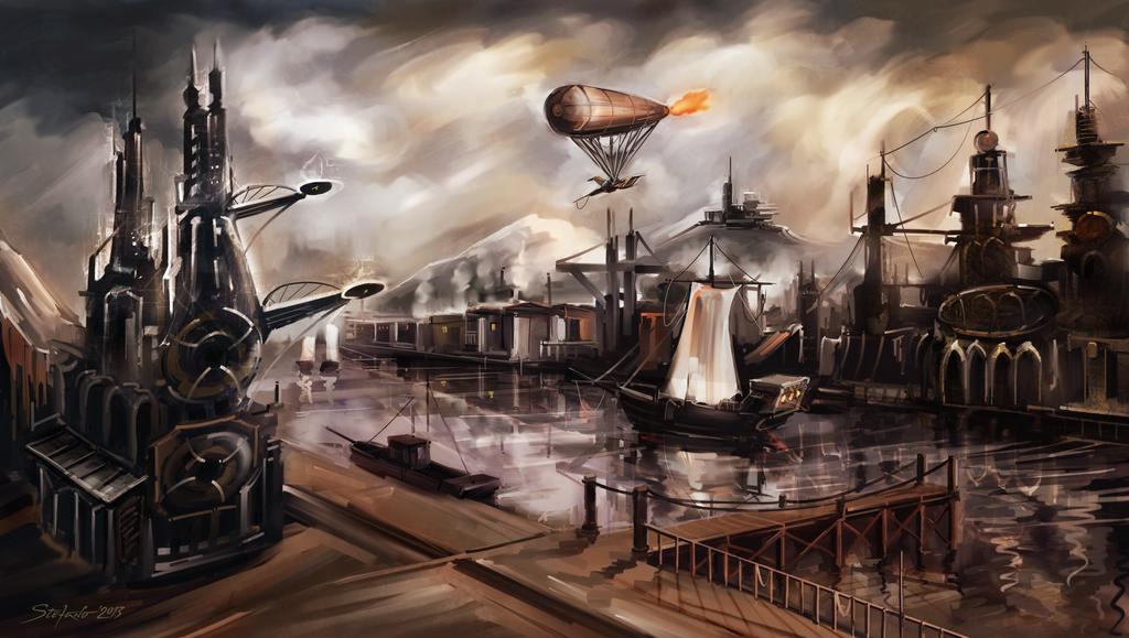 The Docks of Summerlyn by raysheaf