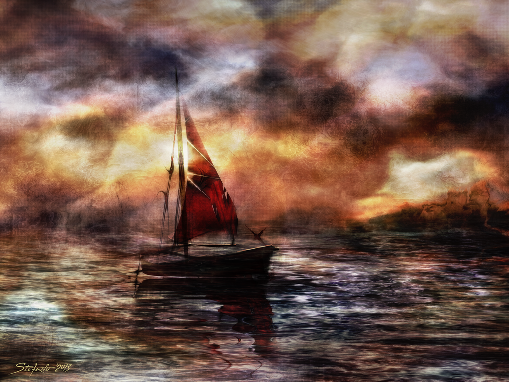 Against the Fall of Night II by raysheaf