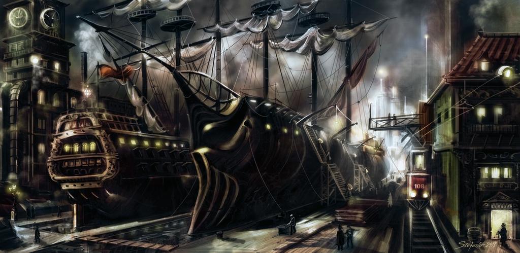 The Docks of Summerlyn II by raysheaf
