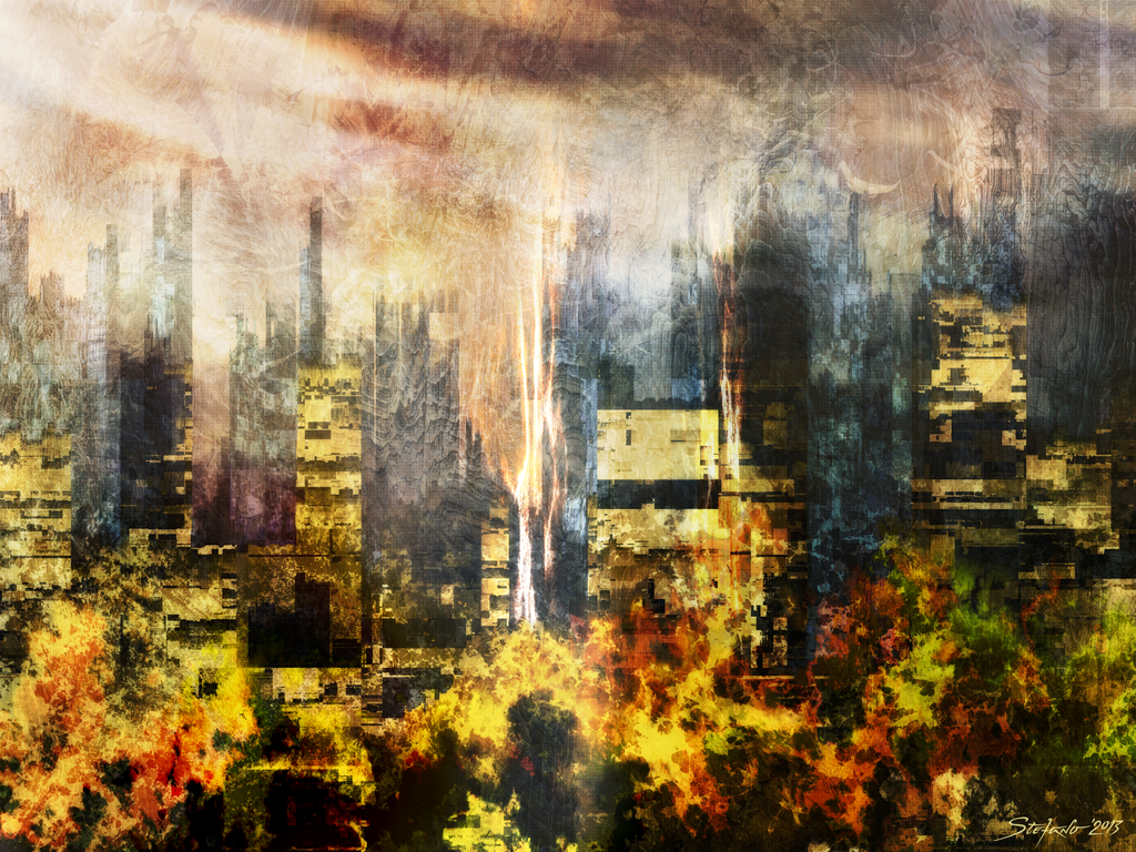The Somnolent City III by raysheaf