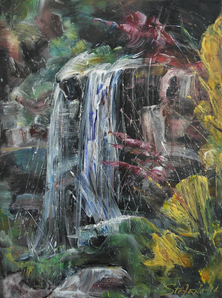 Waterfall III by raysheaf