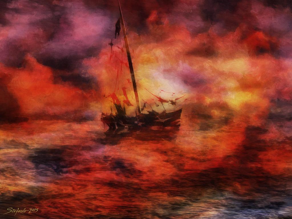 The Purple Sunset by raysheaf