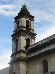 Church tower close up by Dark-Saber