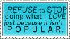 I REFUSE Stamp by RoxyOblivion