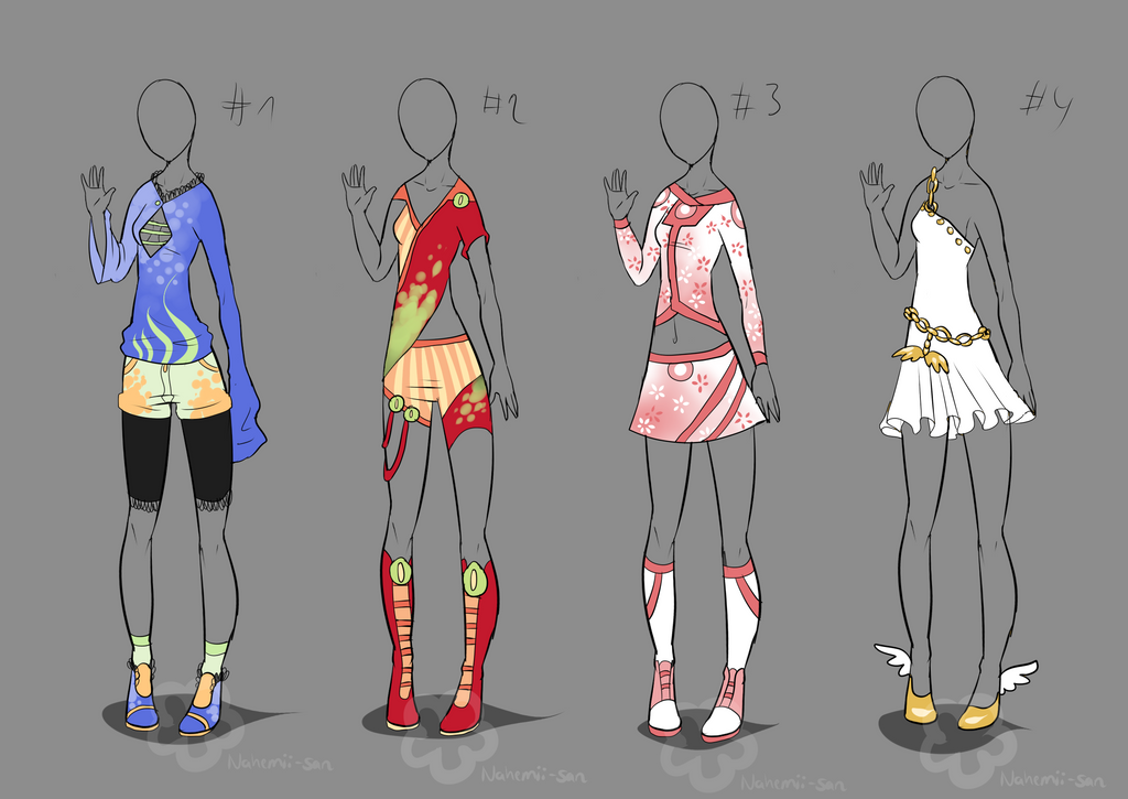 Some Outfit Adopts #2 - sold by Nahemii-san