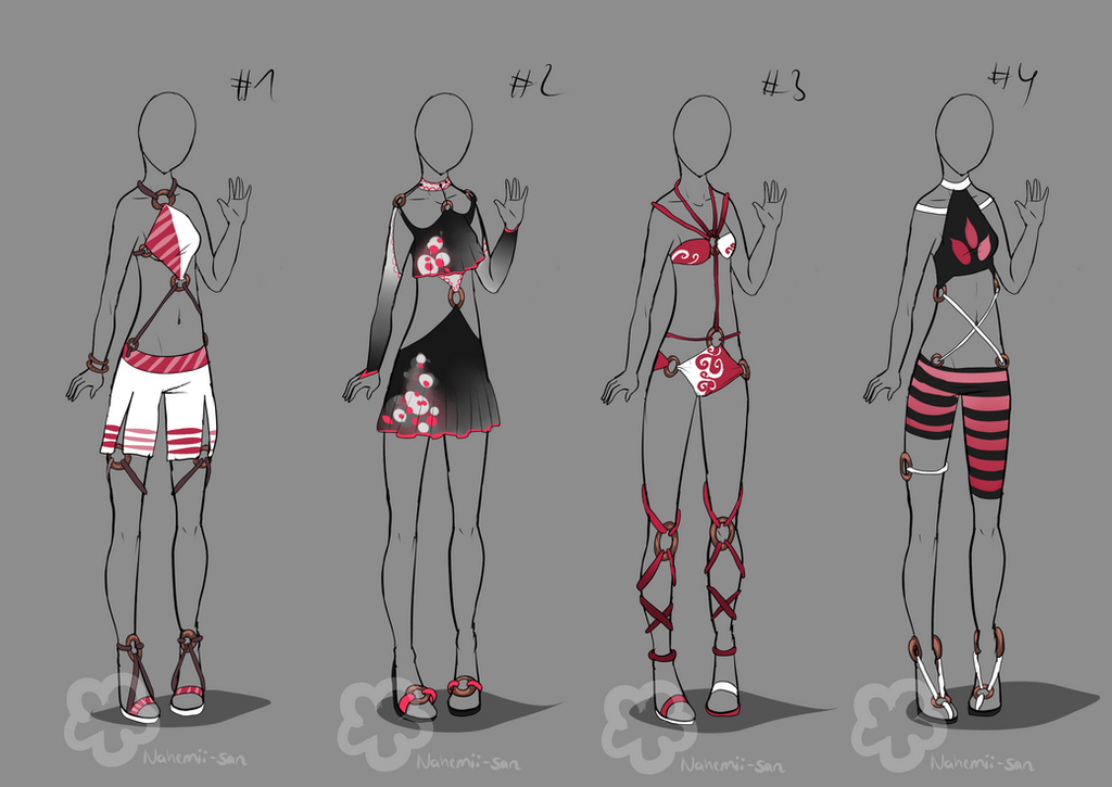 Stringy Outfit Designs - sold by Nahemii-san