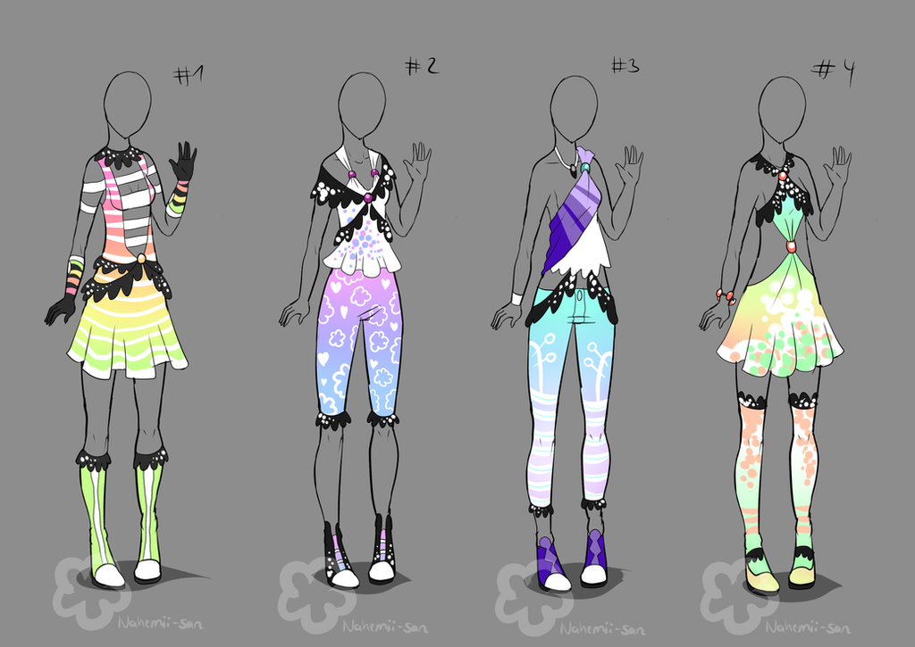 Pastel Outfit Adopts #2 - sold by Nahemii-san on DeviantArt