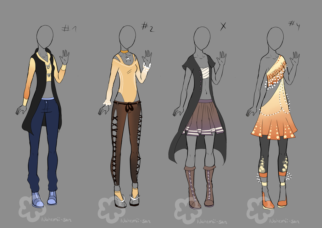 some outfit adopts 5 sold by nahemii san on deviantart