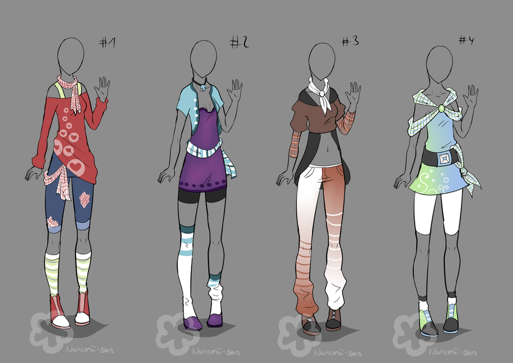 Some Outfit Adopts #6 - sold by Nahemii-san