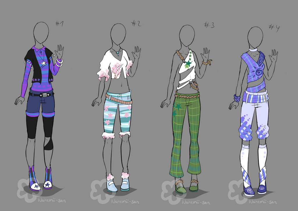Somewhat spring-ish Outfits - sold by Nahemii-san