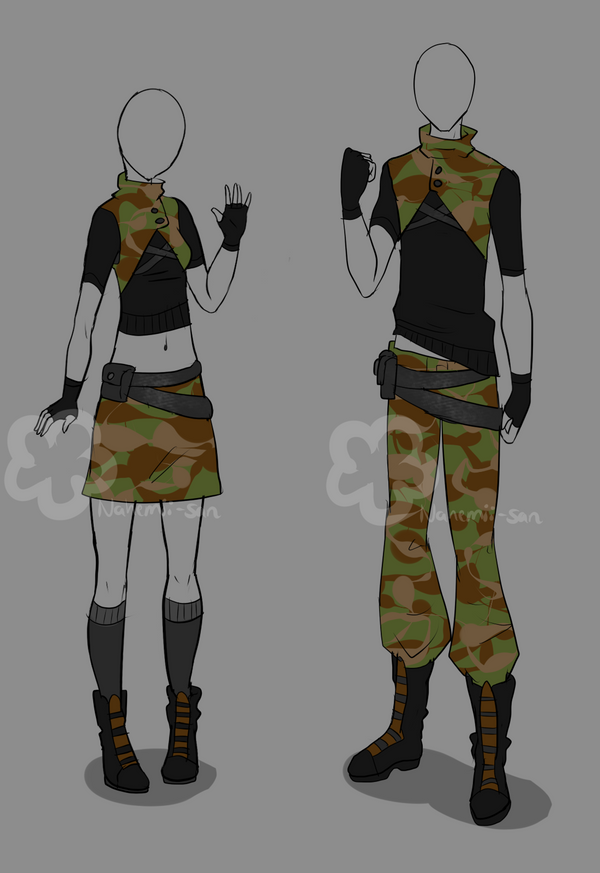 Military Outfit - unlimited by Nahemii-san on DeviantArt