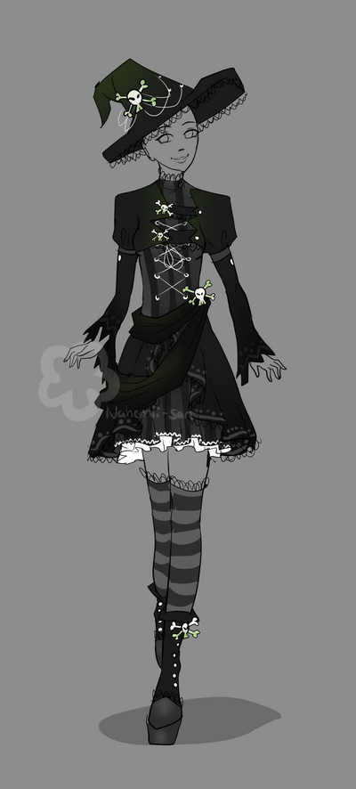 brave anime girl witch outfit costume