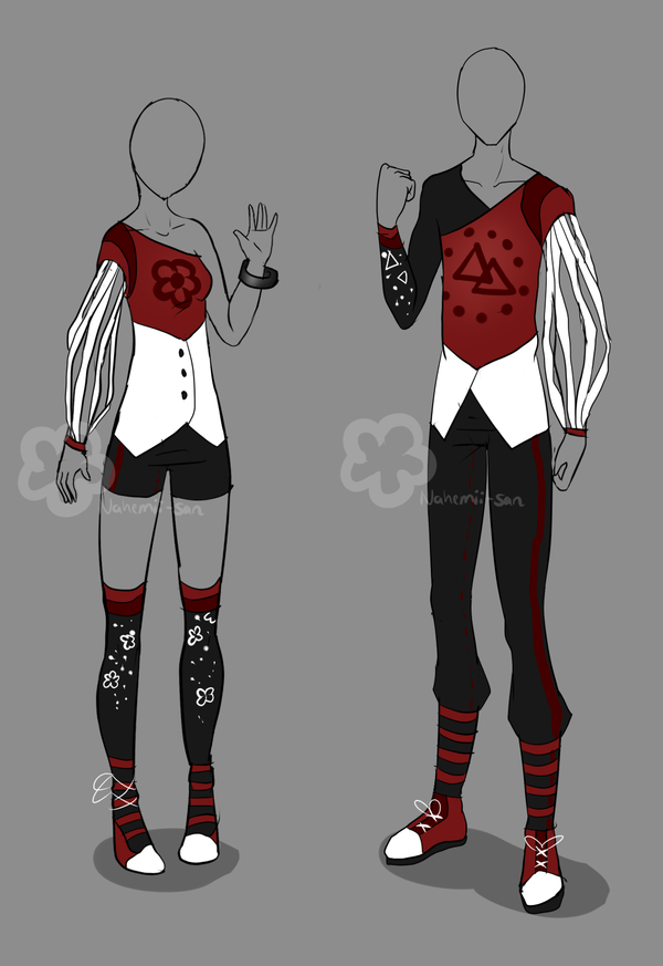 Red Boy'nGirl Outfit - unlimited by Nahemii-san