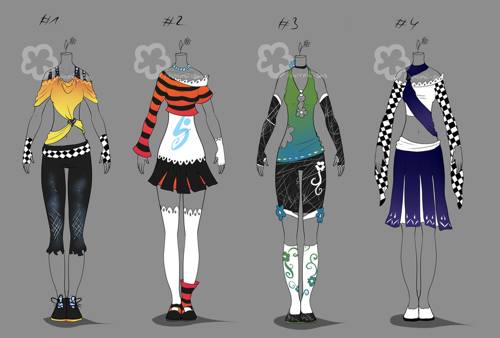 Colorful Outfits #14 - sold by Nahemii-san on DeviantArt