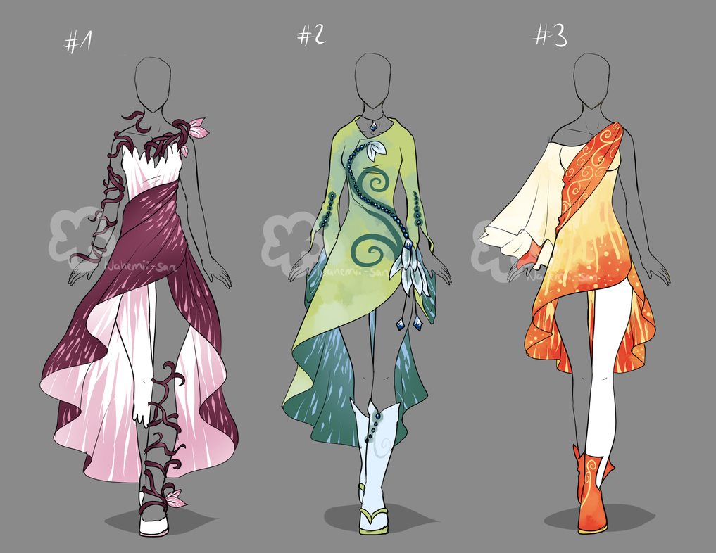 Fantasy Dresses Sold By Nahemii San On Deviantart